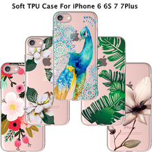 Soft TPU Cover For Apple iPhone 6 6S 6Plus 7 7Plus Cases Phone Wholesale Price Painting Melancholic Lotus Silicon Panic Buying