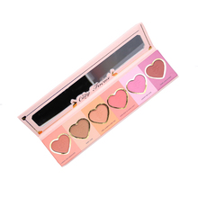 6 Colors Love Flush Shimmering Blush Palette Makeup Face Pigment Long Lasting Blush Nature Easy To Wear pincel maquiagem Beauty(China)
