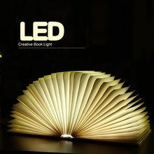 5 Colors Foldable Book Light USB Rechargeable Chandelier Wall Led Night Light Bedside Lamp For Book Lover Friends Christmas Gift(China)