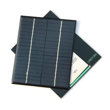 Min Solar Cell 2W 18V Polycrystalline Solar Panel For 12V Battery Charger DIY Solar Module Education Kits 2pcs/lot Free Shipping