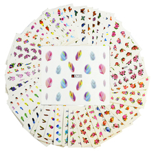 48 Sheets DIY Beauty Mixed Designs Nail Sticker Sets Water Transfer Flower/Feather/Butterfly Decals Tips Nail Art Manicure ND292
