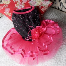 Pet Dog Clothes Tutu Lace Dress Elegant Princess Dress Chihuahua Lovely Red Cute Cat Clothes Party Goods For Dog Supplies Pets()