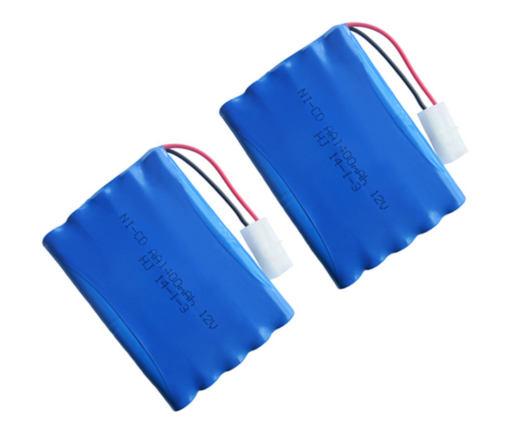 2pack 12v 1400mah ni-cd 12v aa nicd batteries aa battery pack ni cd rechargeable for RC boat model car electric toys tank(China (Mainland))