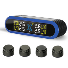 Car Wireless TPMS Tire Pressure Monitoring System with 4 External Replaceable Battery Sensors LCD Display PERSHN T5 WF