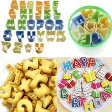 28pcs/set English Letters Cookie Cutters Biscuit Mold Sweet Candy Mold Chocolate Mold Cake Decorating Tool(China)