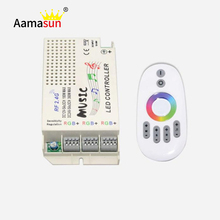 1Set DC12V-24V Wireless RF 2.4G Music Remote Controller For 5050 3528 3014 RGB Led Strip light Led Control Music Conductor()