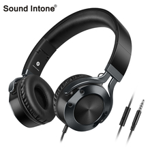 Sound Intone I9 wired gaming headphones Foldable Stereo Surround Over-Ear Volume Control Headset for xiaomi with microphone(China)