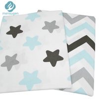 50cm*160cm Stars Zigzag Cotton Fabric for Baby Quilts Cushions Pillows Sewing Fabric Telas Patchwork Telas Por Metros