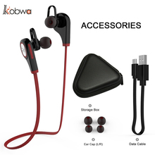 Kobwa Q9 Bluetooth Headphone Wireless Sport Ear hook Headset Stereo Music Handsfree Earbuds With Micro Smart phone earphone(China)