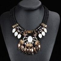 2015 new fashion women Weave  Rope  necklace 12 pcs/lot