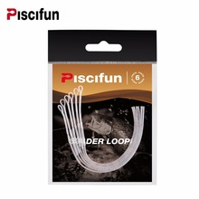 Piscifun Fly Loop 6 Pcs/Pack Fly Leader Loop 30lb Connectors for fly line Clear and Yellow Color Fly Fishing Loop(China)