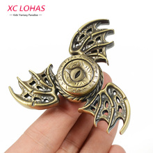 2017 New Dragon Wings Fidget Spinner Dragon Metal Hand Spinner Finger Toys Kids Fun Toys Birthday Gigts
