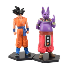 2pcs/set Anime Dragon Ball Z Beerus Son Goku Champa Cool PVC Action Figure Doll Model Toy Collecion