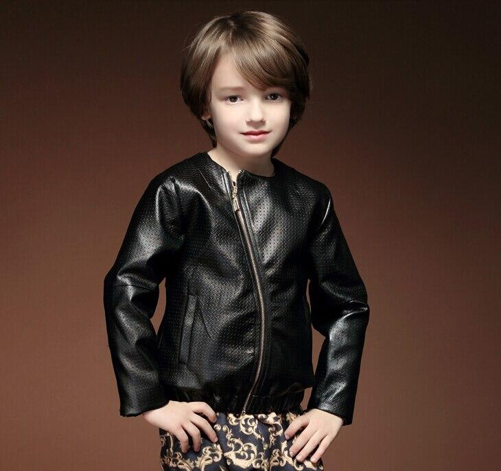 Jackets &amp; Coats Children Kids Jackets for Boys Coat Jacket 2015 Autumn PU Long-sleeve Child Outerwear Boys Winter Black Jacket<br><br>Aliexpress