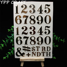 YPP CRAFT Golden Numbers Self- adhesive Epoxy Sticker for Scrapbooking/ DIY Crafts/ Card Making Decoration(China)
