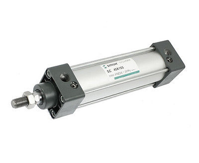 SC 40X100 Bore 40mm Stroke 100mm Single Rod Double Action Pneumatic Air Cylinder<br>