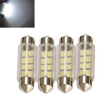 High Quality Led Lighting Accessories 4 pcs 42mm 8 3528-SMD LED DC 12V LED Festoon Car Interior Dome Lights Bulbs AA