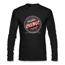 Seattle Grunge Vintage T Shirt Long Sleeve Custom Men T Shirt New Style Rock O-neck Cotton Funny T Shirts(China)