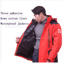High Quality Jackets male down cotton liner + waterproof breathable fishing jacket thick 2in1 clothes winter jacket