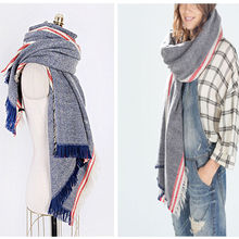 Fashion Women Winter Warm Blanket Oversized Scarf Wrap Plaid Checked Pashmina Shawl and Scarves for Women Ladies 200*80cm 2017(China)