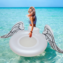 Giant White Angel Wings Floats 2018 Newest Summer Large Outdoor Swimming Pool Floatie Air Lounge Water Toys For Adults and Kids(China)