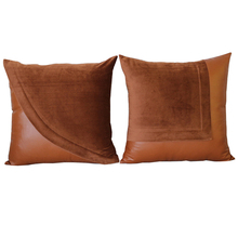 1Pcs 45*45cm Solid Color Faux Leather Throw Pillow Cushion Cover Home Decoration Sofa Bed Decor Decorative Pillowcase 40427(China)