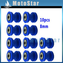 10x 8mm Blue Chain Roller Pulley Tensioner For Atomik Coolster SSR Thumpstar CRF50 CRF70 SDG YCF Stomp BBR XR50 Dirt Pit Bike