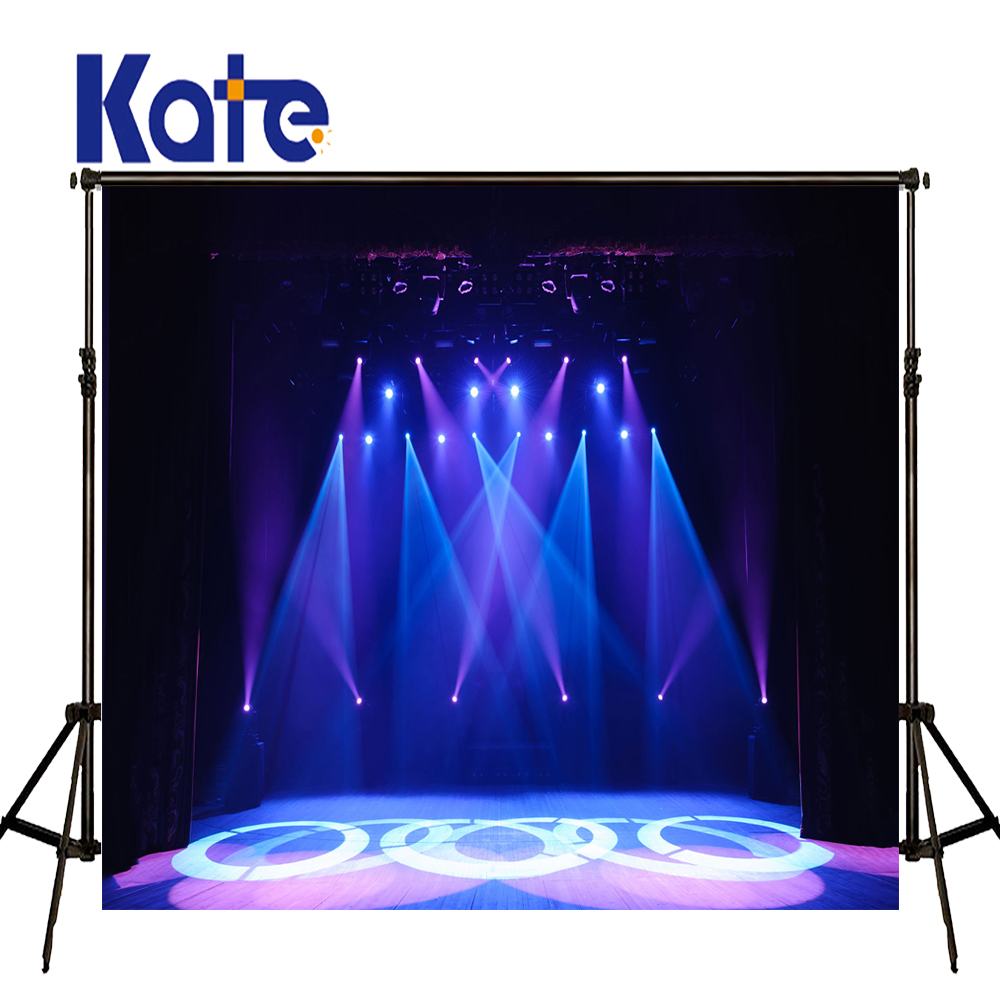 KATE Photography Background 5x7ft Blue Light Backdrop Kids Christmas Stage Backdrops Wood Floor Backdrops for Photo Studio<br>