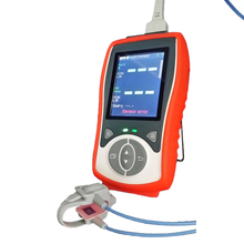 2.8LCD TFT Neonate infant handheld pulse Oximeter SPO2 PR TEMP Neonate sensor Temperature probe Blood oximetro monit Pulse Rate(China)