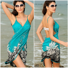 Ice Silk Condole Belt Wrap   Beach Dress  Casual Sexy For Holiday Bathing Suit  Prevented Bask  Clothes