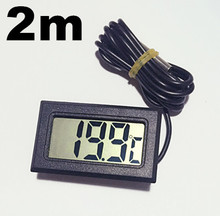 new arrive LCD Display Thermometer meter Probe Temperature tester 2m For Aquarium Freezer