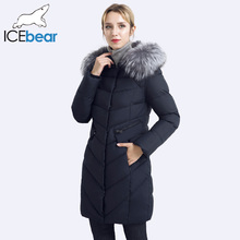 ICEbear 2017 Collar of Natural Fur Coat Women's Jacket parkas Bio-down Warm Thickening Cotton Padded Female Jacket Coat 17G6560D(China)