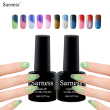 Sarness Gel Varnish 8ml Chameleon Temperature Color Changing UV Gel Nail Polish UV LED All Nail Polish Soak Off for Nails Glue