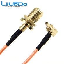 2 шт. RF разъем F для CRC9 кабель F Женский к CRC9 Rightangle RG316 RG174 помощью соединительного кабеля 15 см(China)