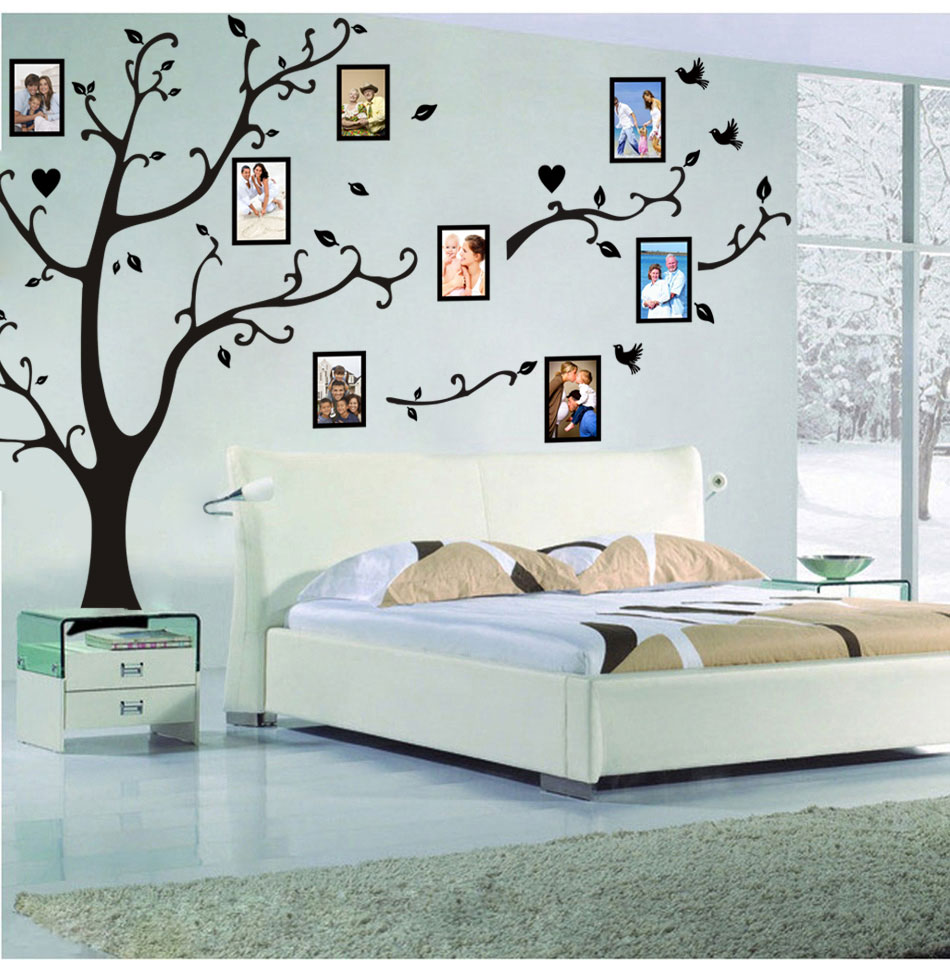 HTB16xwilBcHL1JjSZFBq6yiGXXaU - Large size 200*260cm colorful DIY photo vinyl tree family wall decal for living room