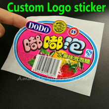 Custom Label Sticker Order ! We Accept All Kind Of Label Sticker logo Text Serial Numbers Transparent PVC Sealing Sticker(China)