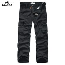 Hot Sale 2016 Men Cargo Pants Loose Brand Pantalon Homme Military Trousers Army Clothing Casual Work Pant Men Plus Size,YK UNCLE