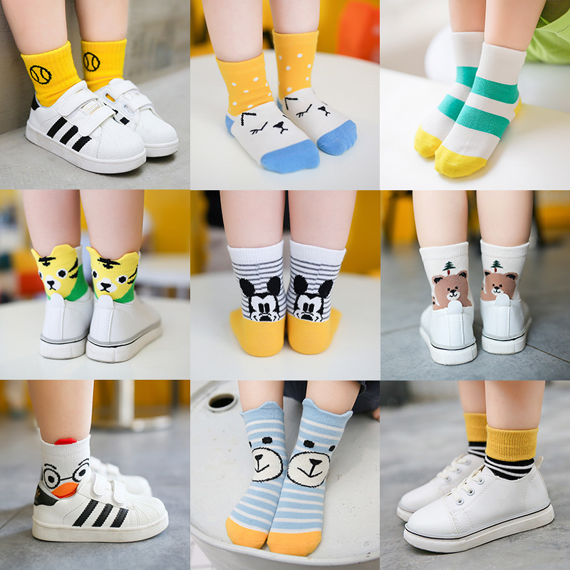 children socks cotton socks wholesale Android products in autumn and winter wave 3D cartoon lovely cotton socks(China)