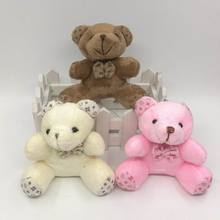 1Pcs 9CM Cute Stuffed Sitting Teddy Bear With Bow Tie Plush Toys  Urso De Pelucia Oso Dolls cellphone bag key chain 8color
