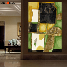 Modern European Restaurant Decoration Design Green Pastoral Style Canvas Print Painting Wall Picture Home Decor Free Shipping(China)