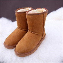 2016 women boots australia Fashion High Quality women shoes Genuine Leather boots women Platform winter boots