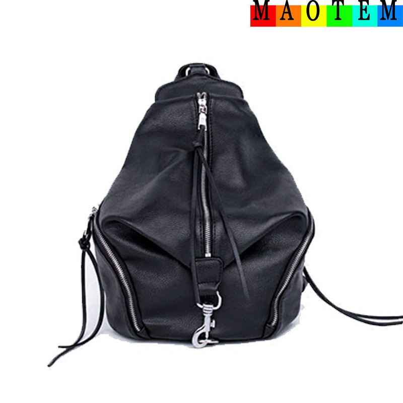 MAOTEM Factory Price!New Casual Bag For 2017 Winter Women Leather Travel Backpack,Teenage High Quality School Backpack For Girls<br>