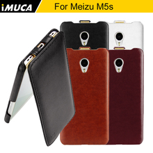For Meizu M5s Case Cover iMUCA Flip Leather Case Protective Back Cover For Meizu M5s Mini Meilan M5s Mobile Phone Cases Covers