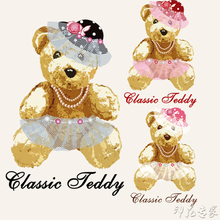 Cartoon Teddy bear heat transfer Offset heat transfer pattern DIY handicraft clothing patch cloth paste decals patches