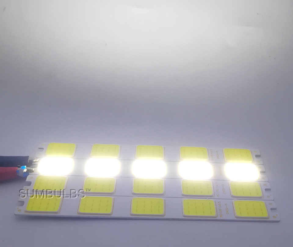 Special Shape COB LED Light Strip DC 12V 5W 6W Cold White LED Bulb with Star Grid Arrow Shape DIY Work Home Car Decor Lighting (12)