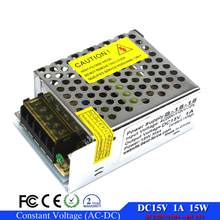 Universal DC15V Switching Power Supply Regulated 1A 15W Transformer 100-240V AC to DC 15V For CCTV Radio Computer Project CNC