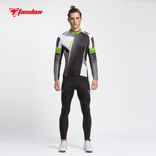 Tasdan Professional Mens Cycling Jersey Suits Long Sleeve Cycling Top Full Short Jersey Cycling and (bib) Pants Suit(China)