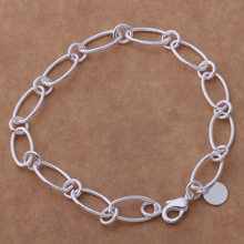 New Fashion Silver Jewelry Concise Unique Chain Bracelet Loving Gift AB184
