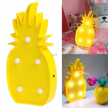 2017 NEW Marquee Sign LED Baby Night Lamp Home Party Decor White Pineapple MAY04_25