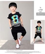 Cool Design 2T-10T 2016 New Toddler Boys Clothing Children Summer Clothes Cartoon Kids Boy Clothing Set T-shit+Pants 100% Cotton